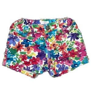 Bright Floral Jean Shorts